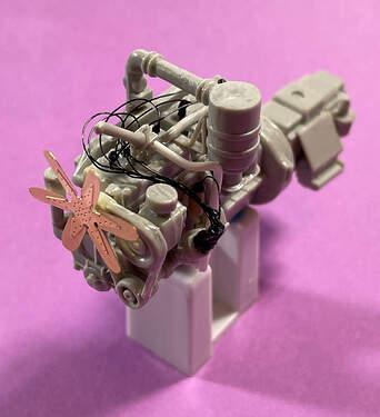 "US Diamond T 968 Engine – UTC Ultra Wire Brassie (32 gauge, 0.0080"") and Evergreen 211 (.040) Styrene Rod (2)"