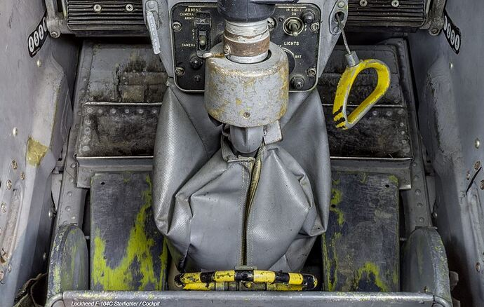 F-104C Cockpit Footwell