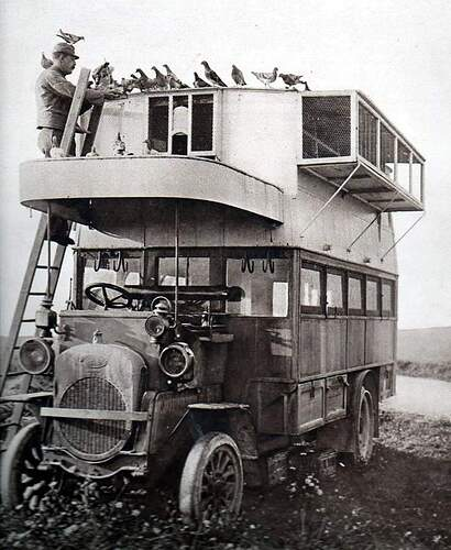 A Pigeon Bus from WWI, served as collecting point for messenger pigeons from the front lines.