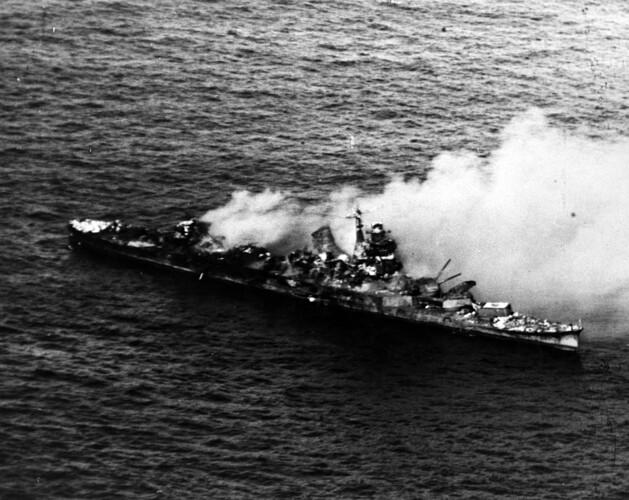 Mikuma Sinking June 6, 1942