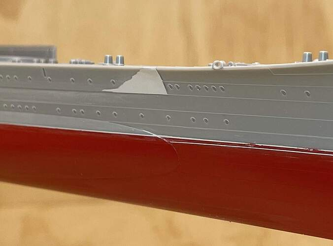 Start of Thick Plating (Starboard)