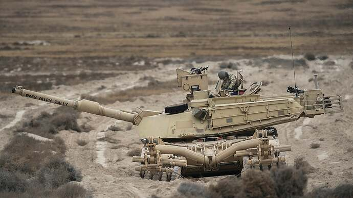 We salute the Army crew who named their tank Back Alley Sally