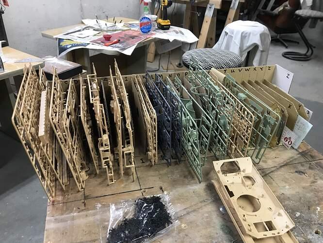 Bradley Sprue Rack Filled