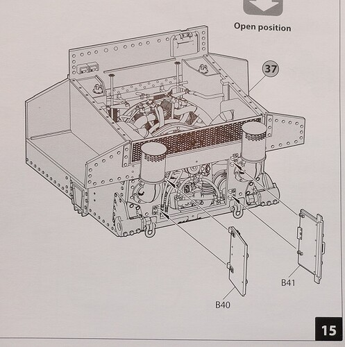 diagram rear engine doors instruction sheet