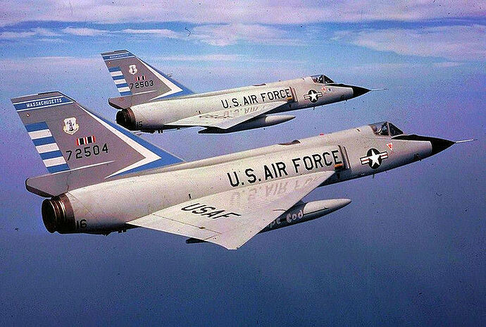 101st_Fighter-Interceptor_Squadron_Two_F-106_Delta_Daggers_in_Formation