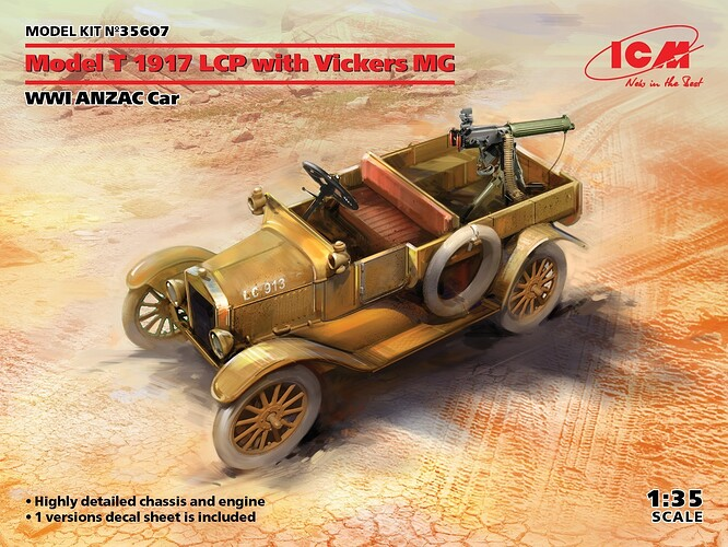 Model T 1917 LCP with Vickers MG