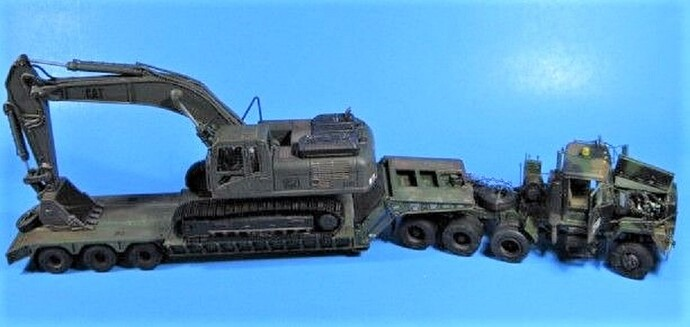 M920 MET with M872A1 Trailer and Excavator