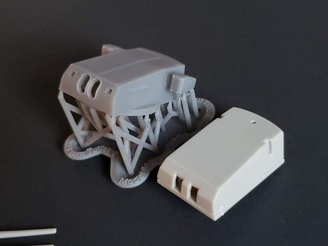Model Monkey 1-350 Zara turret with comparable plastic kit parts