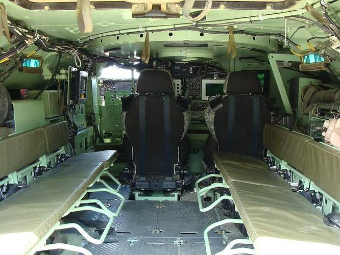 AMPV (Armored Multi-Purpose Vehicle, Turretless Bradley) Interior