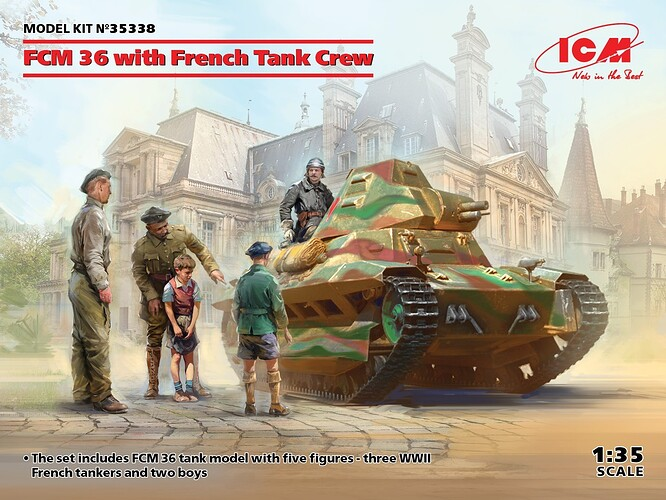 FCM 36 with French Tank Crew