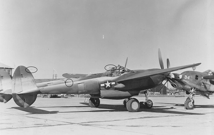 P-38H with antenna locations
