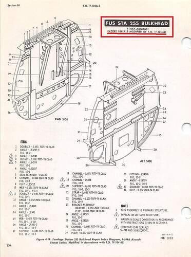 F-104C Production FS255 Bulkhead