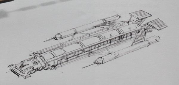 concept art for Millenium Falcon c