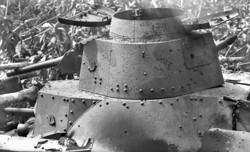 Close up of second tank cupola