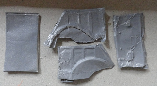 inner and outer panels painted grey primer