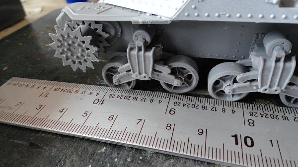 steel ruler against the wheels