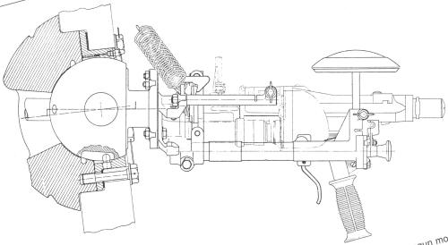 MG mount elevation, 4 pixels = 1mm, some distortion