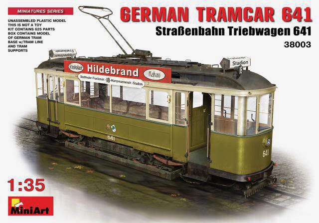 MiniArt (38003) German Tramcar 641 (StraBenbahn Triebwagen 641)
