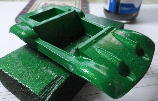 bodsy shell in metallic green