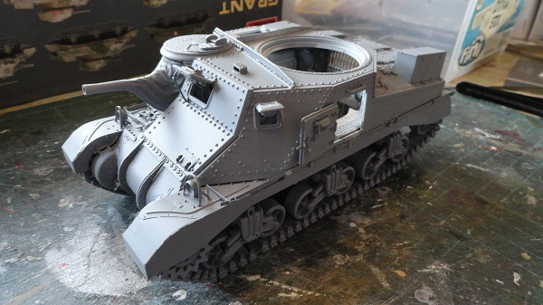 hull ready for camouflage paint