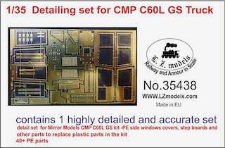 Detailing set for CMP Chevy C60L GS Truck