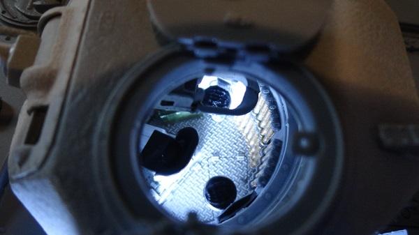 first view down hatch b