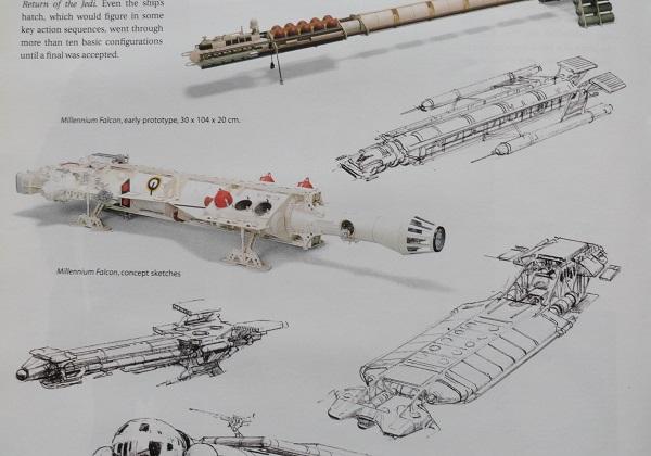 concept art for Millenium Falcon a